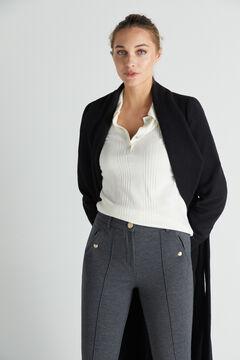 Cortefiel Jersey-knit trousers Gray