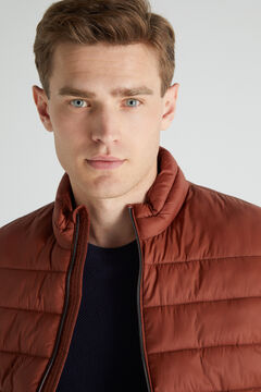 Cortefiel Ultralight quilted gilet Red
