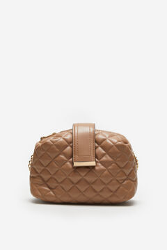 Cortefiel Quilted crossbody bag Brown