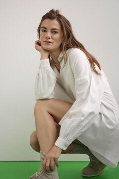 Cortefiel Camisa oversize Branco