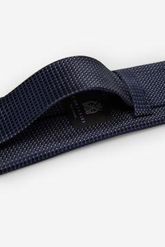 Cortefiel Textured weave tie Navy