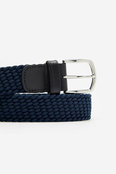 Cortefiel Woven fabric belt Navy