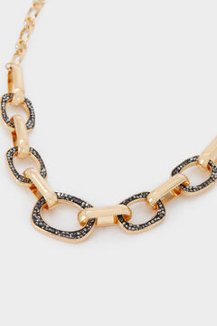 Cortefiel Collar caden cristales Amarillo