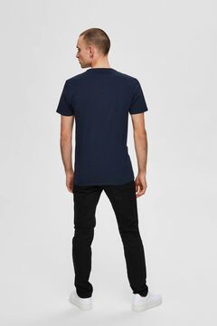 Cortefiel 3-pack organic cotton t-shirts Navy