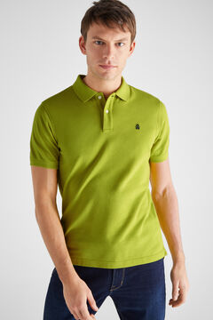 Cortefiel Essential short-sleeved polo shirt Green