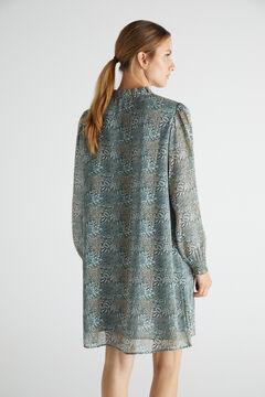 Cortefiel Printed tunic dress Green