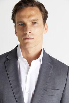Cortefiel Striped slim fit stain resistant blazer Gray