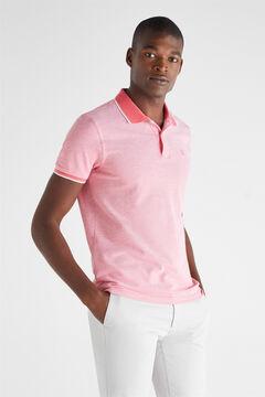 Cortefiel Essential short-sleeved polo shirt Purpura