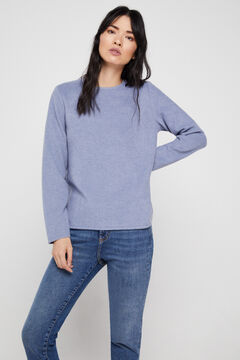 Cortefiel Soft feel crew neck t-shirt Royal blue
