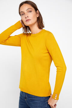 Cortefiel Crew neck jumper Yellow