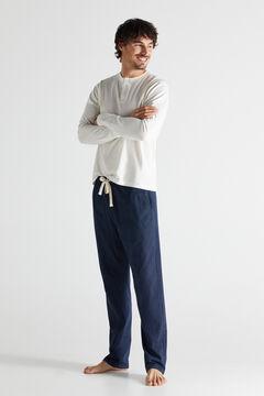 Cortefiel Jersey-knit and cotton pyjamas White