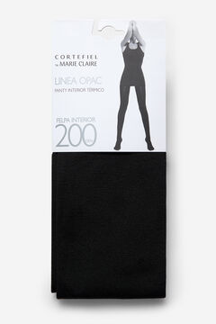 Cortefiel Fleece 200D Tights Black