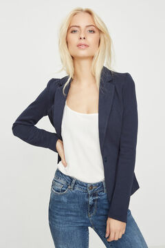 Cortefiel Essential blazer Royal blue