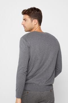 Cortefiel Crew neck jumper Gray