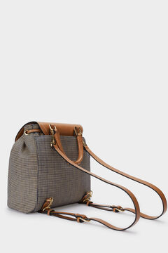 Cortefiel Straw backpack Navy