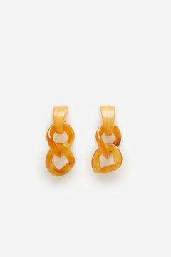 Cortefiel Chain earring Beige