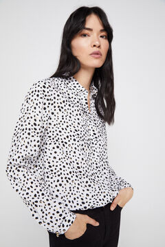 Cortefiel Camisa estampada Cinzento