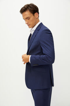 Cortefiel Deep blue slim fit suit blazer Blue jeans