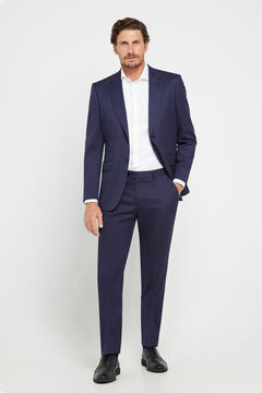 Cortefiel Blue slim fit suit trousers Royal blue