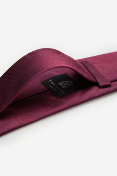 Cortefiel Textured ottoman tie Red