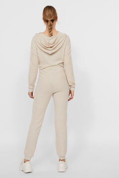 Cortefiel Ribbed trousers Stone