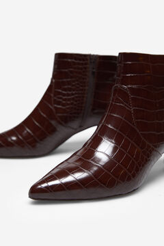 Cortefiel Crocodile effect ankle boot Brown