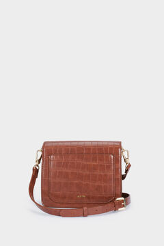 Cortefiel Embossed bag with removable strap Mole