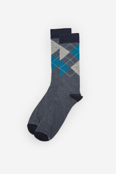Cortefiel Organic cotton diamond socks Bluejeans