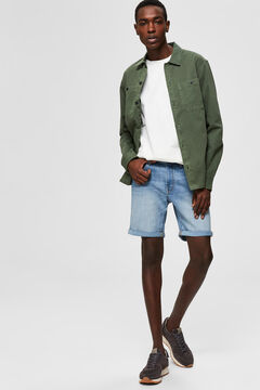 Cortefiel Denim Bermuda shorts Royal blue