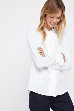 Cortefiel Floaty flounced shirt White