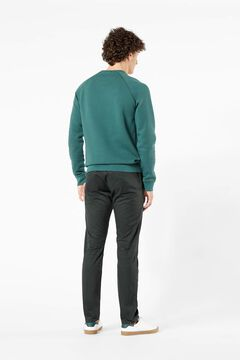 Cortefiel Round neck cotton Dockers® sweatshirt Green
