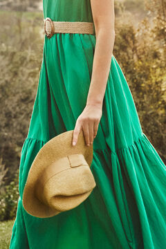 Cortefiel Long floaty dress Pistachiogreen
