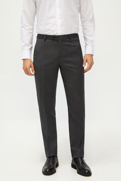 Cortefiel Grey slim fit suit trousers Gray