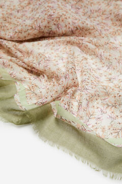 Cortefiel Ditsy floral print lightweight scarf Pink
