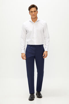Cortefiel Deep blue slim fit suit trousers Blue jeans