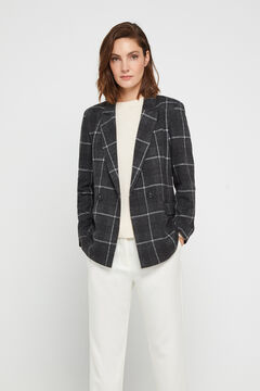 Cortefiel Jersey-knit blazer Gray