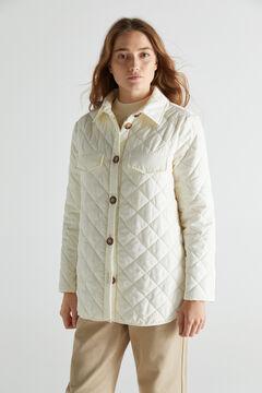 Cortefiel Quilted over garment Ecru