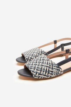 Cortefiel Woven flat sandal Blue