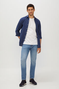 Cortefiel Slim fit medium wash jeans Light blue