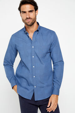 Cortefiel Camisa COOLMAX® xadrez Gales Azul
