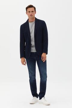 Cortefiel Jersey-knit blazer Navy