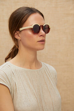 Cortefiel Gafas de sol CREAM/LEO TORTOISE DALSTON Marrón