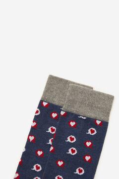 Cortefiel Heart motifs socks Bluejeans