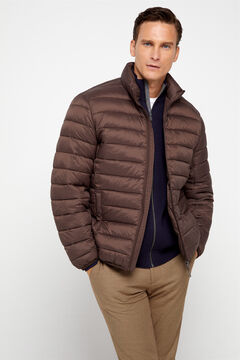 Cortefiel Ultralight quilted jacket with Thermolite eco Dark brown