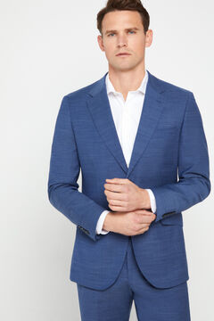 Cortefiel Blue slim fit suit blazer Royal blue