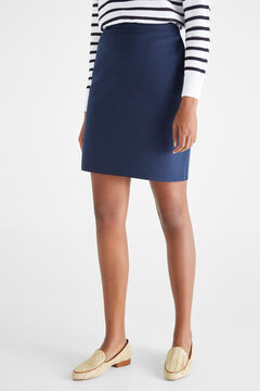 Cortefiel Short skirt with elasticated waist Navy