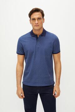 Cortefiel Short-sleeved polo shirt Blue