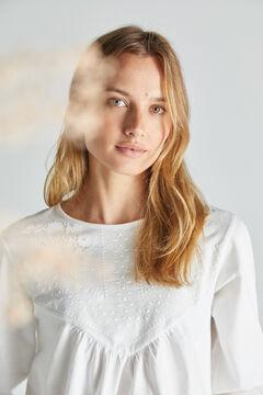 Cortefiel Rubber yoke T-shirt White