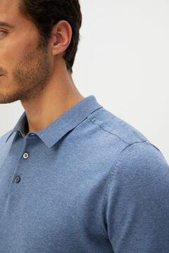 Cortefiel Men's polo shirt jumper Royal blue