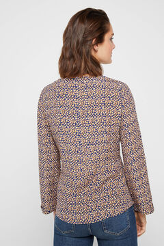 Cortefiel Heart print top Blue